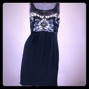 SUE WONG Nocturne Black Beaded Dress